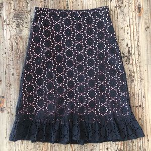 🌟2 for $10!!! Lace pink and black skirt